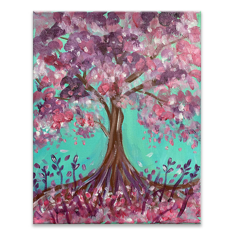 Blooming Tree Virtual Painting Event