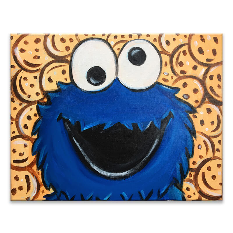 Cookie Monster Virtual Painting Event