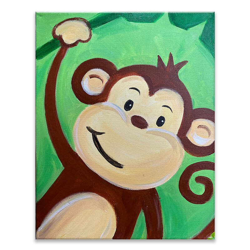 Monkeying Around Virtual Painting Class
