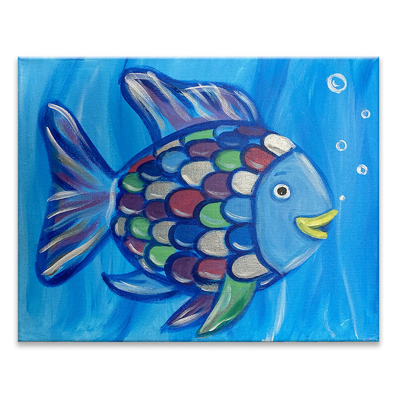 Rainbow Fish Virtual Painting Class
