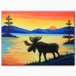 Wilderness Moose Virtual Painting Class