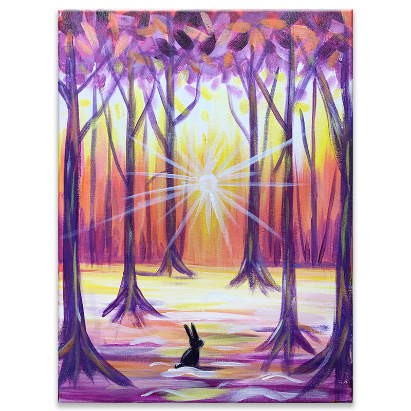 Winter Woodlands Virtual Painting Class
