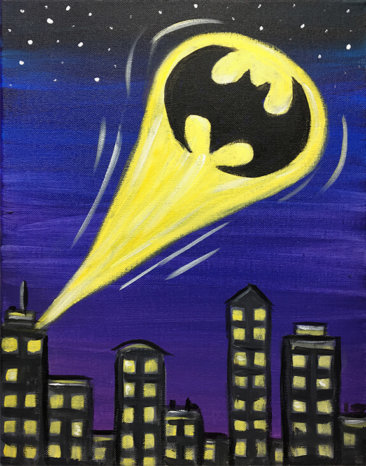 Batman Kids Painting Party