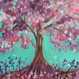 Blooming Tree Painting Party