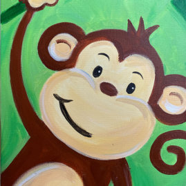 Monkeying Around Acrylic Painting