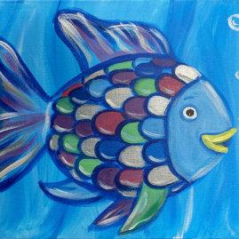 Rainbow Fish Acrylic On Canvas