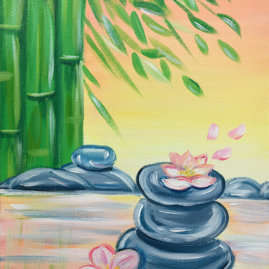 Zen Rocks Virtual Painting Class