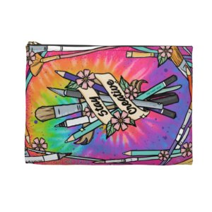 Stay Creative (Tie Dye) Accessory Pouch