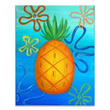 Bikini Bottom Pineapple Virtual Painting Class
