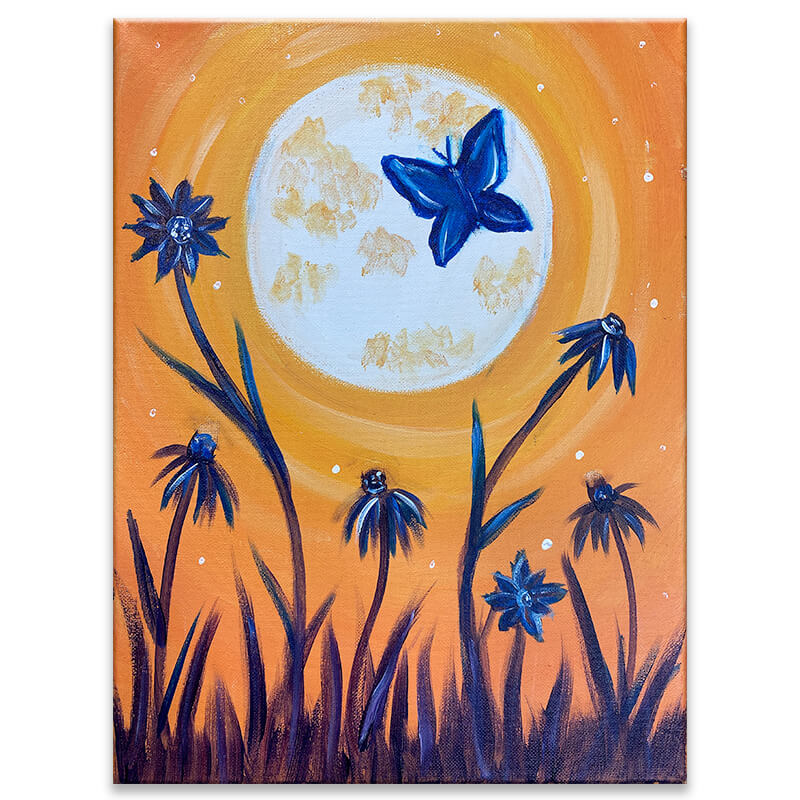 Moonlit Butterfly Virtual Painting Class
