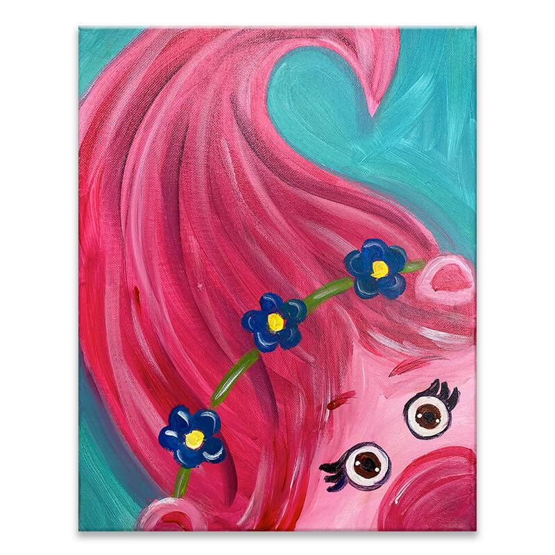 Poppy the Troll Virtual Painting Class