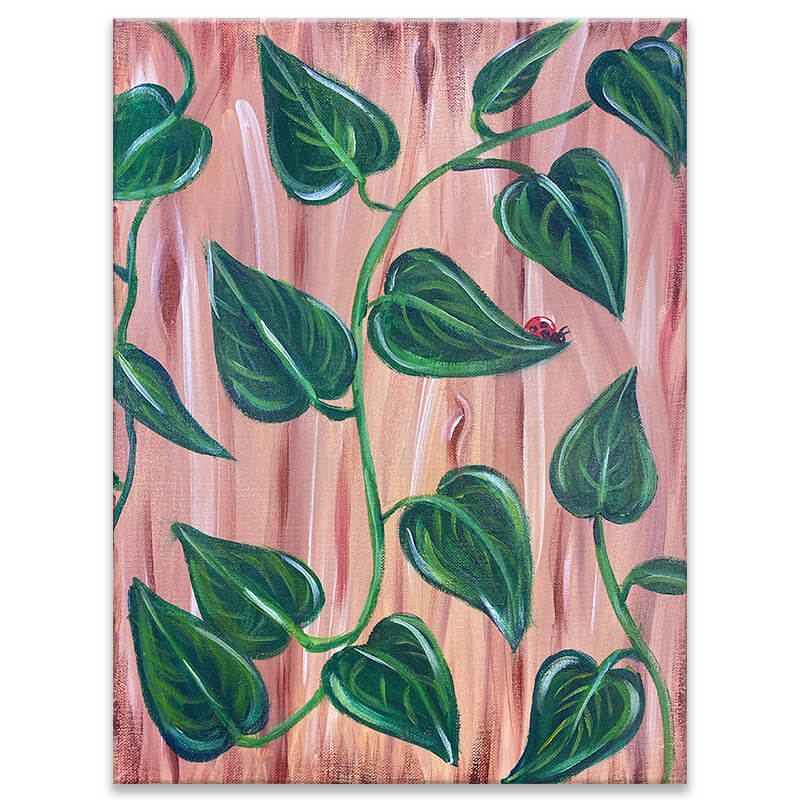 Pothos Vines Virtual Painting Class