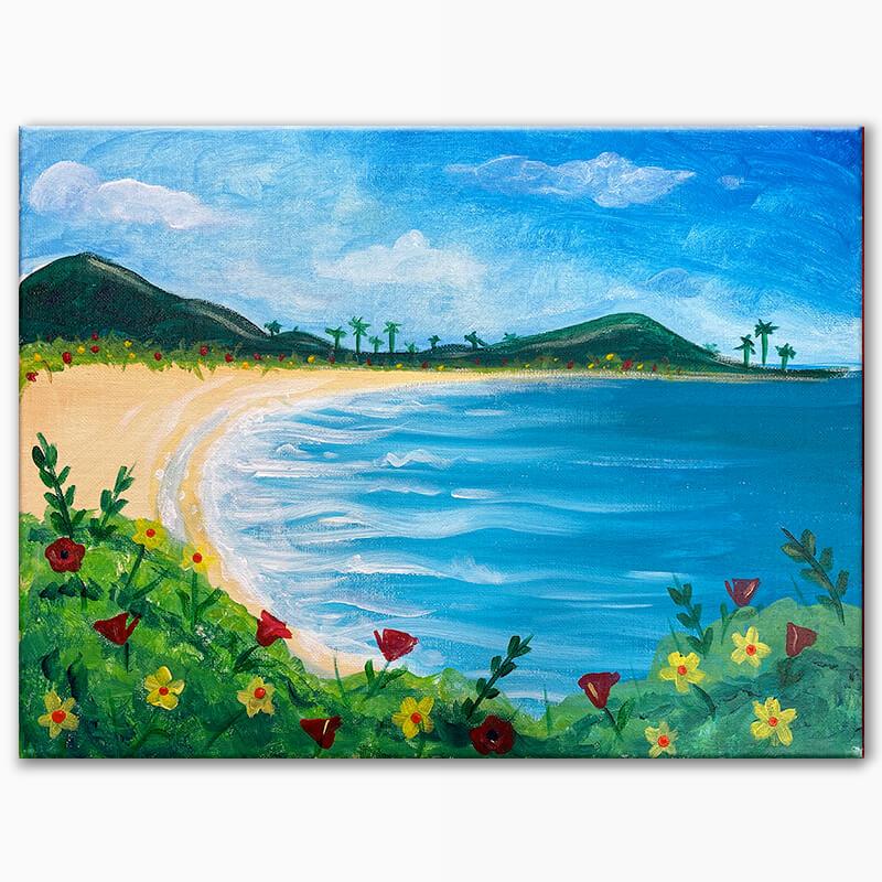 Tropical Paradise Virtual Painting Class