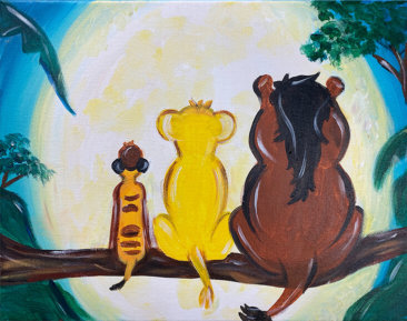 Hakuna Matata Kids Painting Party