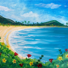 Tropical Paradise Acrylic on Canvas