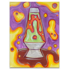 Lava Lamp Acrylic Painting Class