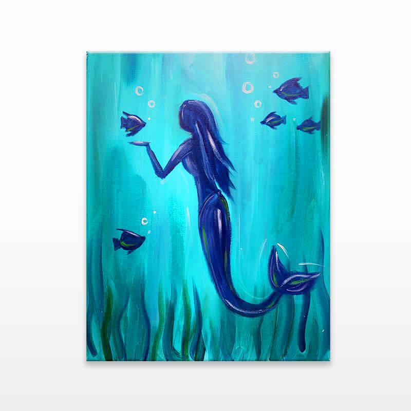 Sea Mermaid Virtual Painting Event
