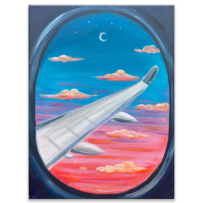 Big Jet Plane Painting Class