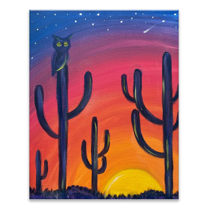 Desert Sunset Virtual Painting Event