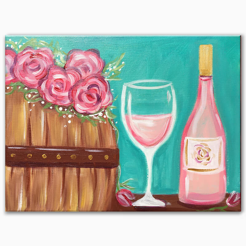 Rosé All Day Live Painting Class
