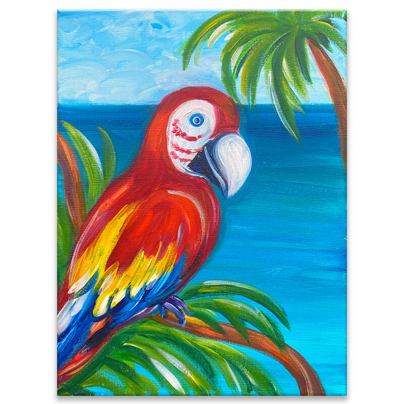 Scarlet Macaw Painting Class