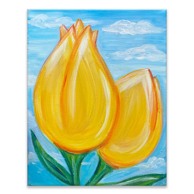 Tulip Skies Painting Class