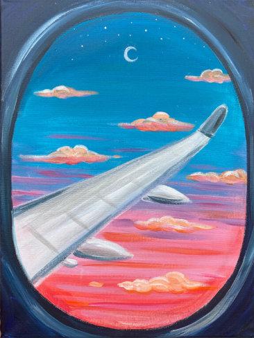 Big Jet Plane Acrylic on Canvas Painting