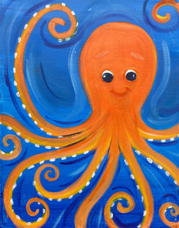 Octo-sea painting by The Paint Sesh