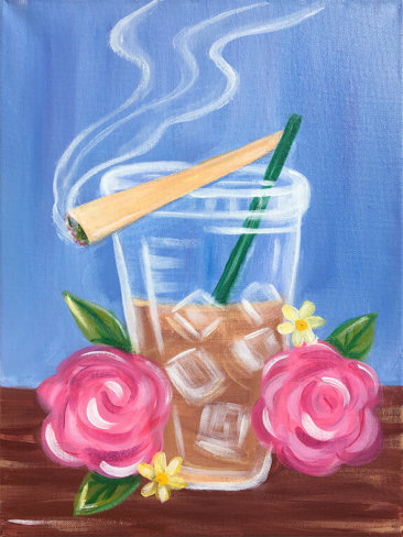 Coffee Sesh Acrylic Painting by The Paint Sesh