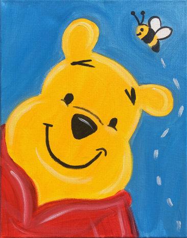 Honey Bear Acrylic Painting