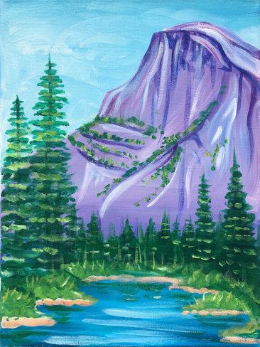 Yosemite Acrylic Painting Class by The Paint Sesh