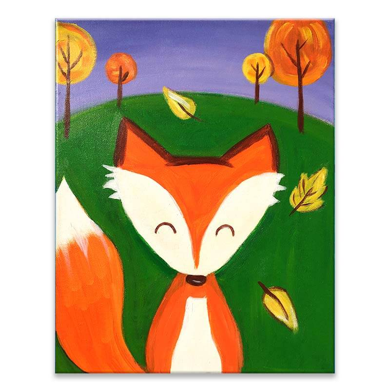 Foxy Acrylic Painting Class