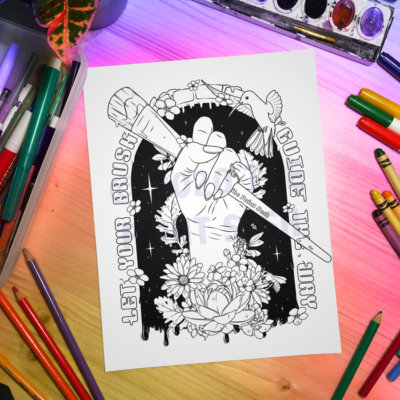 Creative Magic Printable Coloring Page